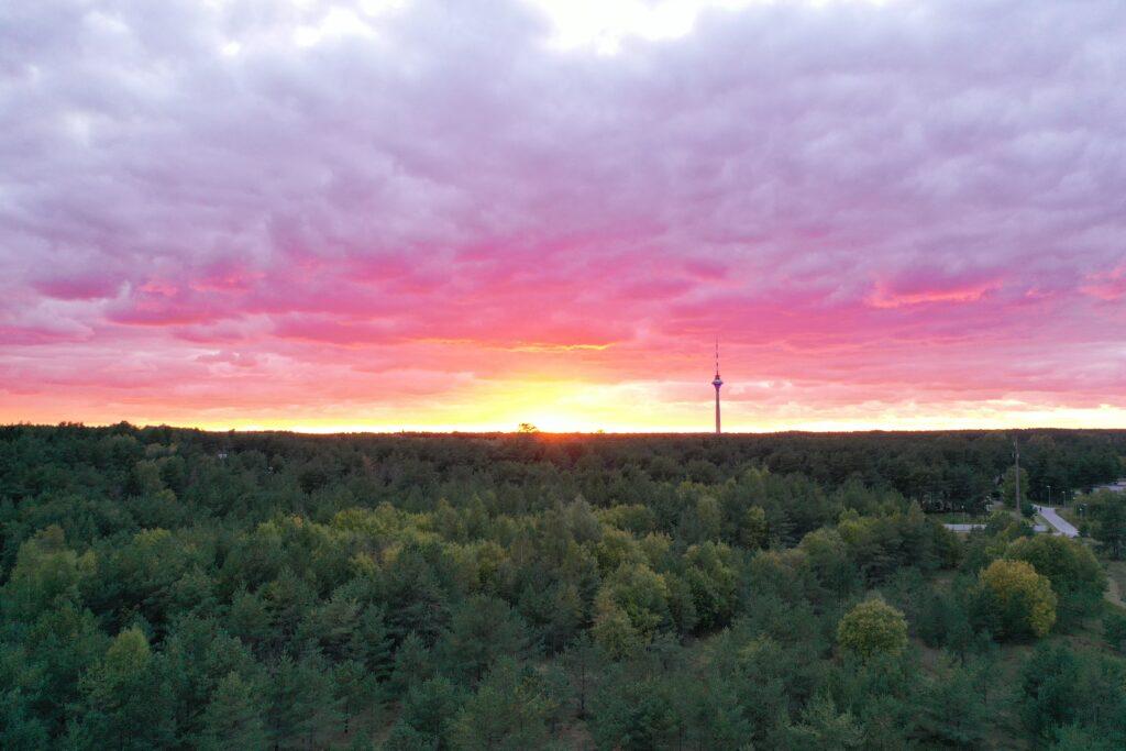 droonivaade - päikeseloojang